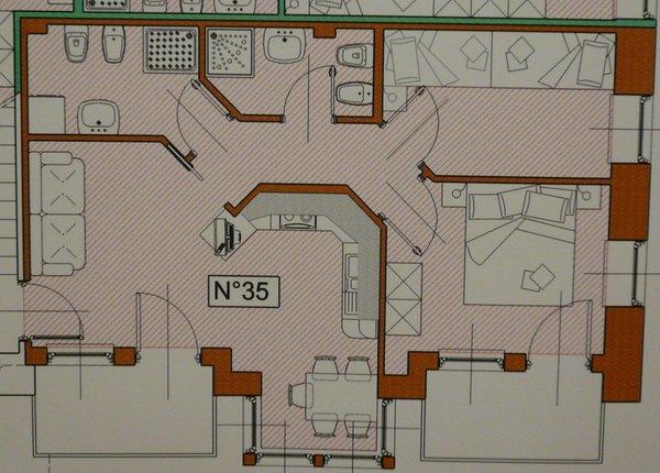 La planimetria Appartamenti La Meisules