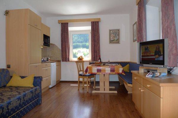 La zona giorno Appartamenti Villa Prinoth