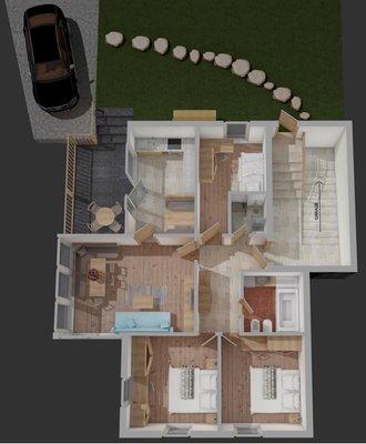 La planimetria Appartamento Furmescer Alpine Home