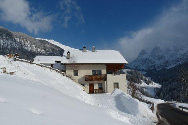 Foto esterno in inverno Apartment La Frünta