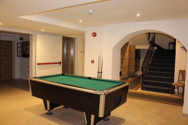 La sala giochi Garni + Residence Trocker