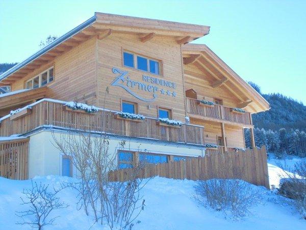 Foto invernale di presentazione Residence Zirmer