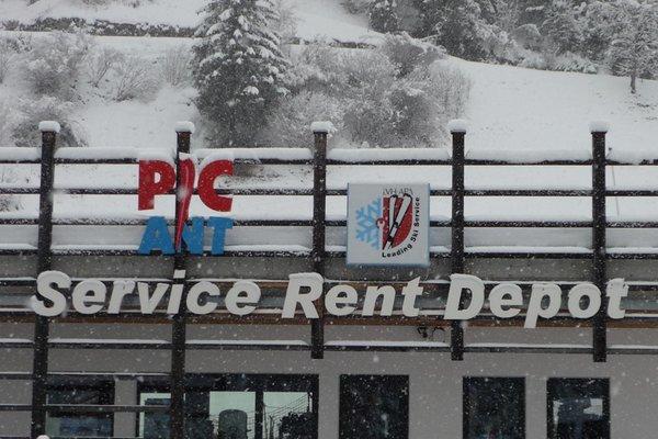 Foto invernale di presentazione Pic Ant - Noleggio sci