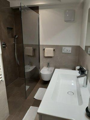 Foto del bagno Appartamenti Haus Waldrand