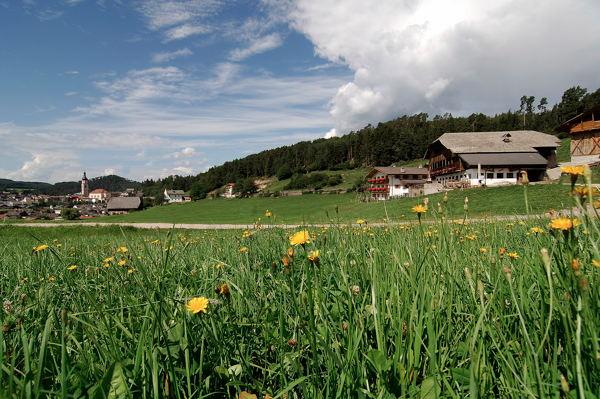 Lage Ferienwohnungen auf dem Bauernhof Feger Castelrotto
