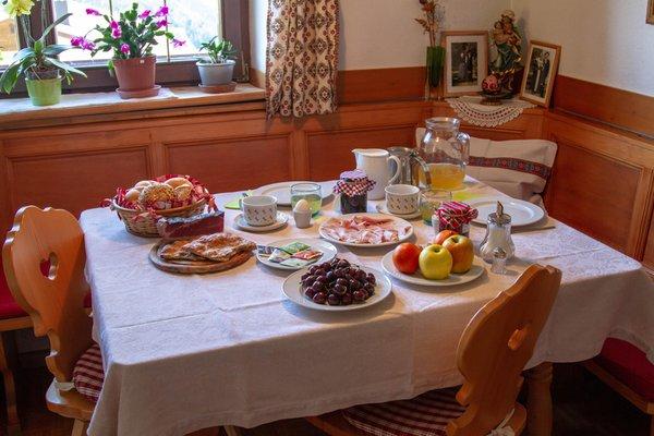 La colazione Grafhof - Camere + Appartamenti in agriturismo 3 fiori