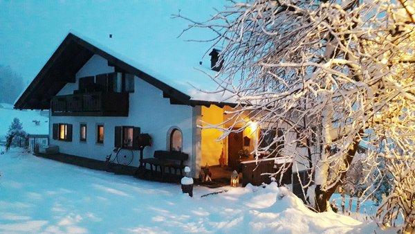 Foto invernale di presentazione Grafhof - Camere + Appartamenti in agriturismo 3 fiori