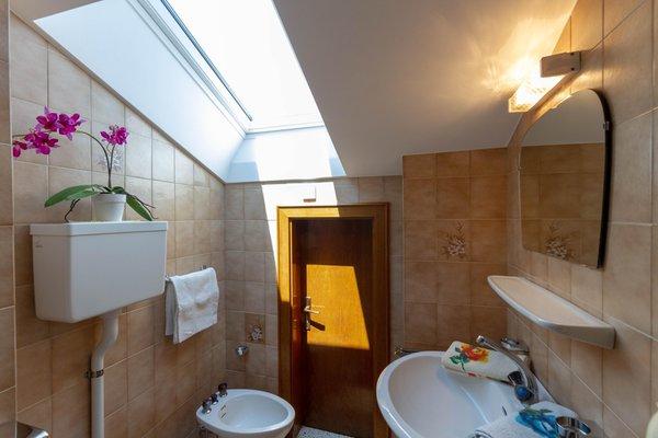 Foto del bagno Camere + Appartamenti in agriturismo Grafhof