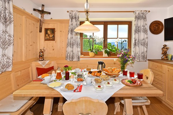 Das Frühstück Gschlunerhof - Ferienwohnungen auf dem Bauernhof 3 Blumen