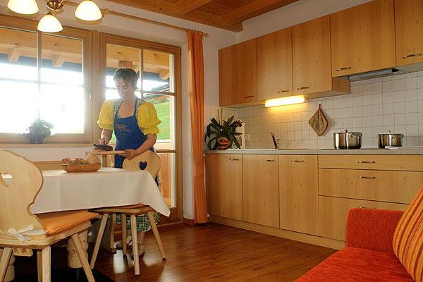 La zona giorno Ronsolhof - Appartamenti in agriturismo 3 fiori