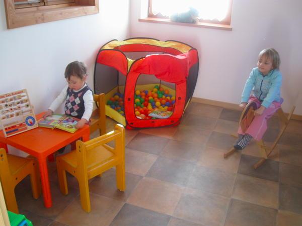 La sala giochi Appartamenti in agriturismo Ronsolhof