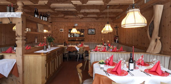 The restaurant Colfosco Borest