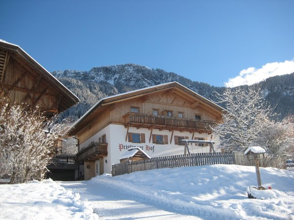Foto invernale di presentazione Appartamenti in agriturismo Pristinger Hof