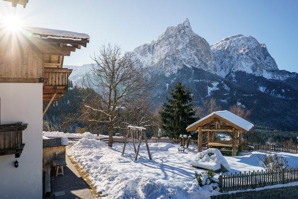 Foto esterno in inverno Pristinger Hof