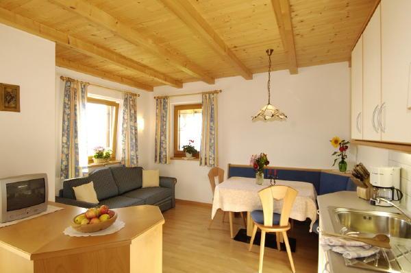 La zona giorno Aichbühlerhof - Appartamenti in agriturismo 2 fiori