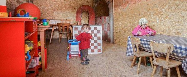 La sala giochi Appartamenti in agriturismo Edelansitz Zimmerlehen