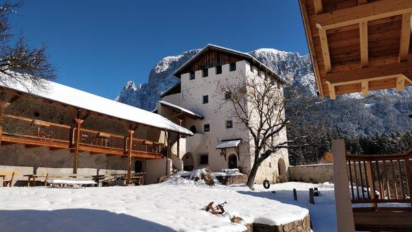 Foto esterno in inverno Edelansitz Zimmerlehen
