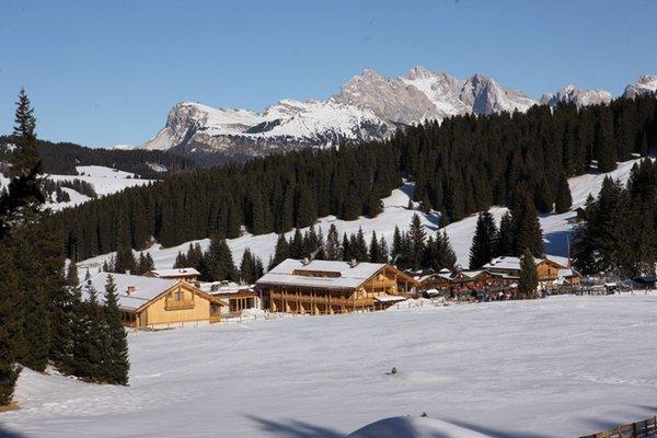 Foto invernale di presentazione Tirler – Dolomites Living Hotel - Hotel 4 stelle sup.