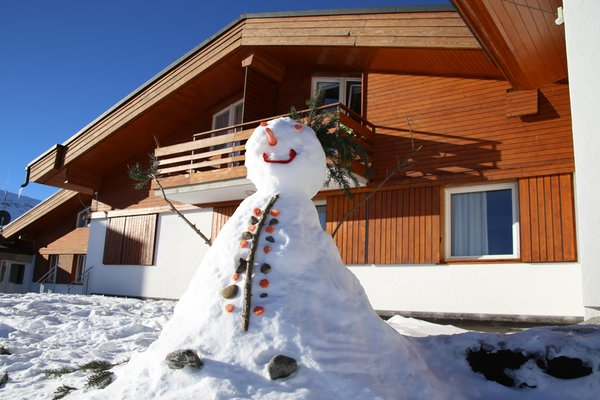 Foto esterno in inverno Apartments Obexer