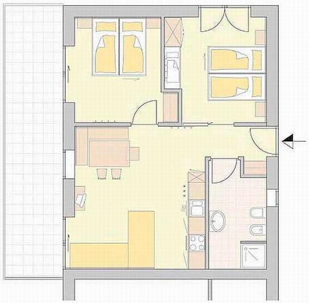 La planimetria Appartamenti In den Feldern