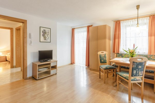 La zona giorno Huberhof - Appartamenti in agriturismo 3 fiori