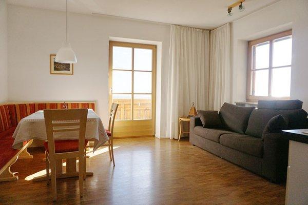 La zona giorno Forer Egitz - Appartamenti in agriturismo 2 fiori