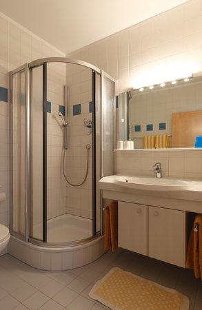 Foto del bagno Appartamenti in agriturismo Forer Egitz