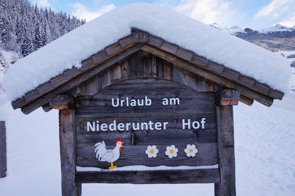 Foto Außenansicht im Winter Niederuntererhof