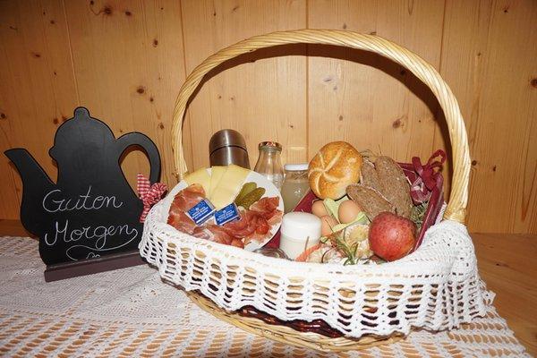 Das Frühstück Niederuntererhof - Ferienwohnungen auf dem Bauernhof 3 Blumen