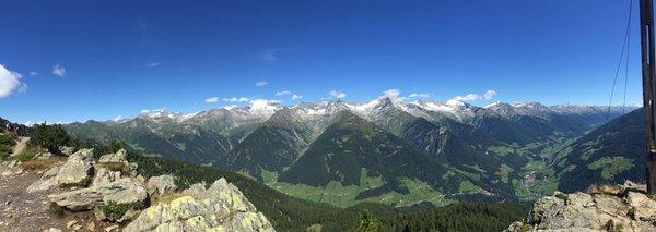 Panoramic view San Giovanni / St. Johann (Valle Aurina / Ahrntal)