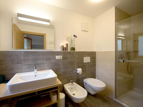 Foto del bagno Garni (B&B) + Appartamenti Alpenresidence