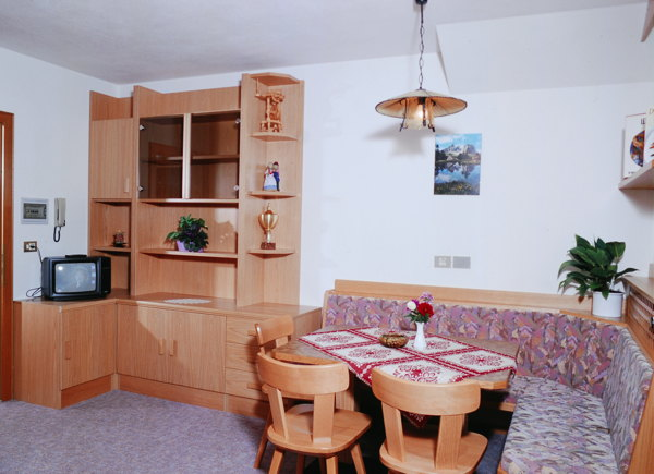 La zona giorno Wasserer - Appartamenti 3 soli