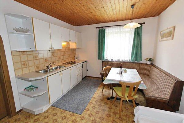 La zona giorno Ausserhof - Appartamenti in agriturismo 2 fiori