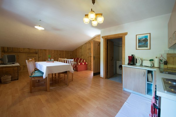 La zona giorno Appartamenti in agriturismo Obergruberhof