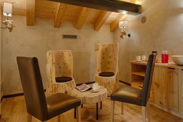 La zona giorno Garni-Hotel + Appartamenti Elisir