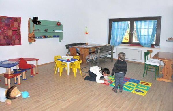 La sala giochi Albergo Sassleng
