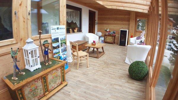 Die Gemeinschaftsräume B&B + Ferienwohnungen Albergo Garni Edy