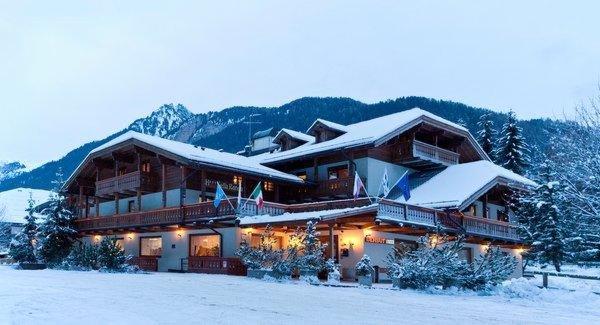 Foto invernale di presentazione Sella Ronda - Hotel 3 stelle