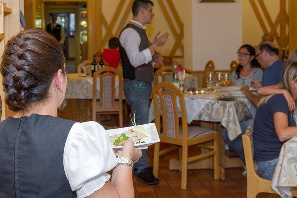 Il ristorante Vigo di Fassa Andes Hotel Family & Wellness
