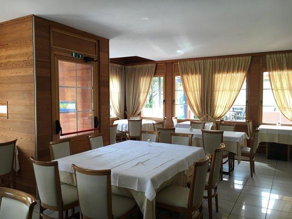 The restaurant Vigo di Fassa Enrosadira