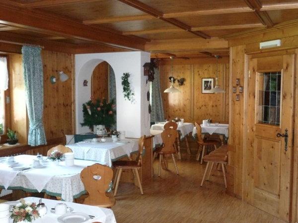 Il ristorante Corvara Haus Tyrol