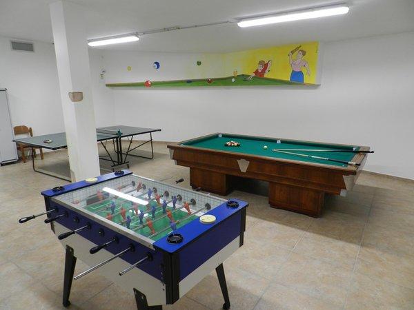 La sala giochi Albergo Stella Alpina