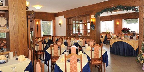 Il ristorante Moena Bucaneve