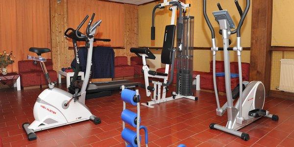 Foto della zona fitness Hotel Bucaneve
