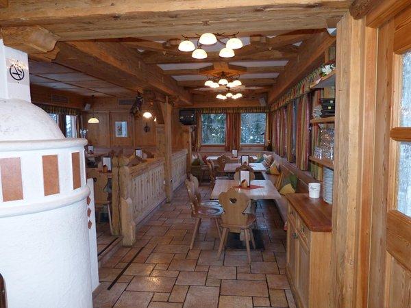 Il ristorante San Cassiano Malga Saraghes