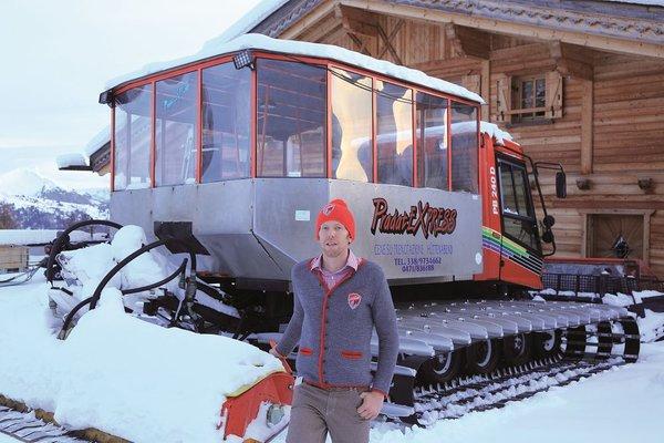 Foto esterno in inverno Rifugio Col Pradat