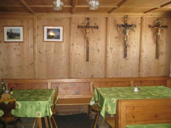 La sala da pranzo Rifugio Santa Croce
