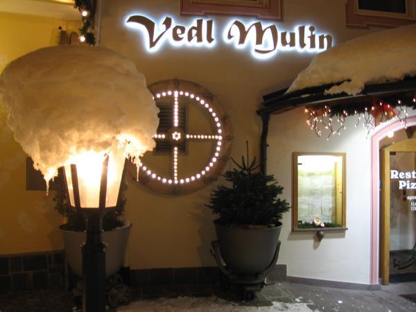 Winter Präsentationsbild Restaurant Pizzeria Vedl Mulin