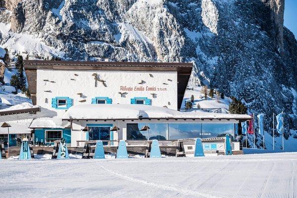 Foto invernale di presentazione Rifugio Emilio Comici