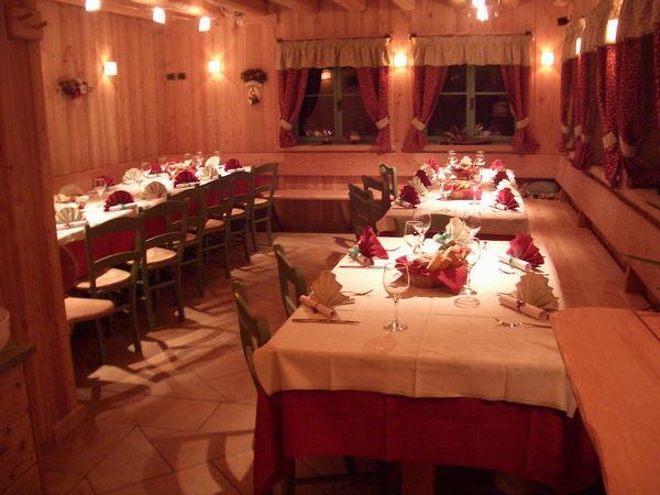Il ristorante Val di Zoldo Refugium Pekatorum